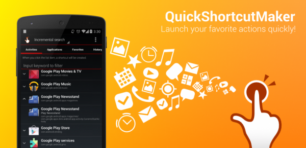 QuickShortcutMaker на андроид