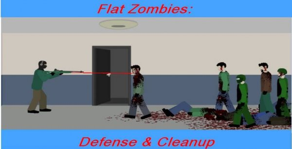 Flat Zombies: Cleanup and Defense на андроид